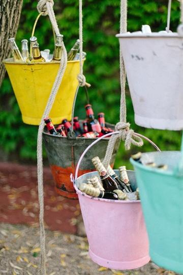 Diversas y originales ideas para bodas originales Centros de Mesa