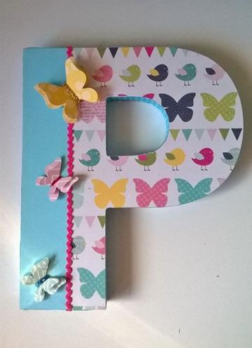 imagenes de letras decoradas con mariposas
