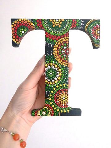 imagenes de letras decoradas con puntillismo