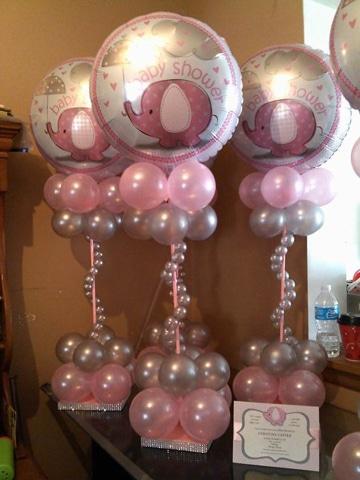 imagenes para baby shower niña decoracion globos