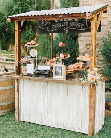 mesa de dulces estilo vintage para boda