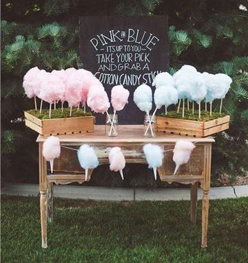 mesa de dulces estilo vintage para niños