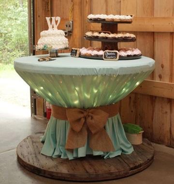 mesa de dulces estilo vintage sencilla