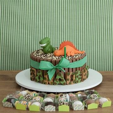 pasteles de dinosaurios para niños de chocolate