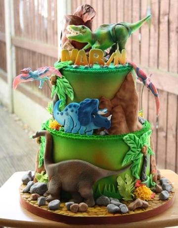 pasteles de dinosaurios para niños grandes