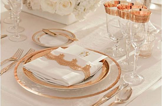 tendencias decoracion bodas 2017 metalizado