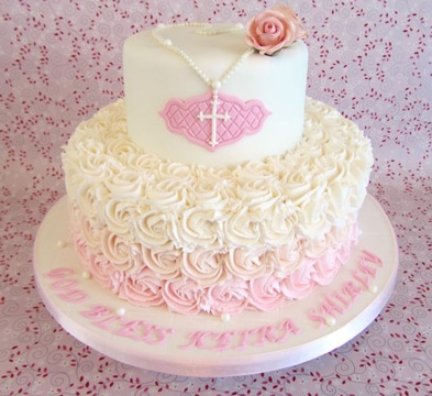 Hermosas y apetitosas tortas de bautizo para ni a - Decoracion para bautizo de nina ...