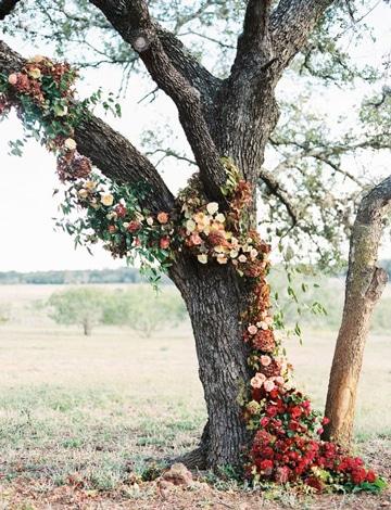 arboles decorados para fiestas con flores