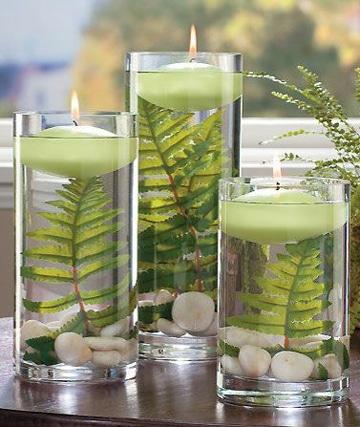 arreglos con velas flotantes decorativos