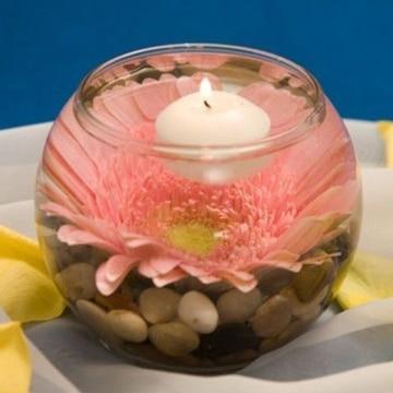 arreglos con velas flotantes detalle romantico