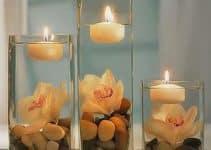 Originales y hermosos arreglos con velas flotantes