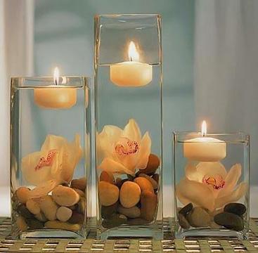 arreglos con velas flotantes faciles
