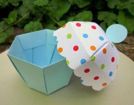 cajitas de carton para dulces sencillas