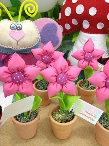 centros de mesa con flores de tela economicos