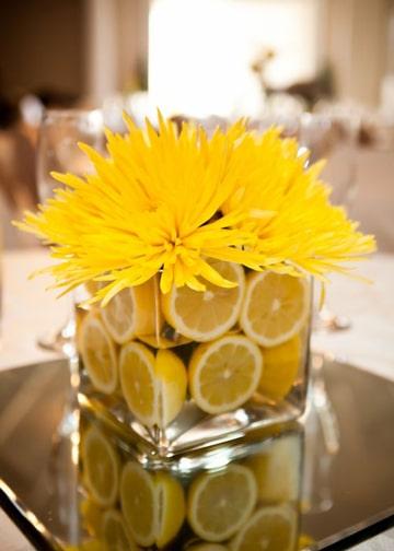 Unicos y extraordinarios centros de mesa con limones - Centros de mesa con limones ...