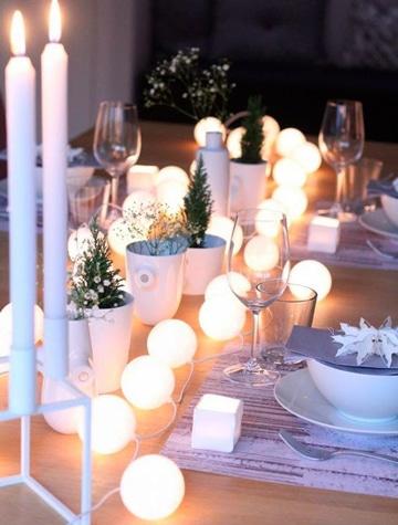 centros de mesa con luces decorativas