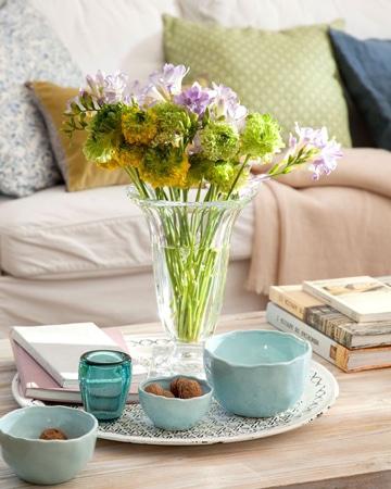 centros de mesa de ceramica para living