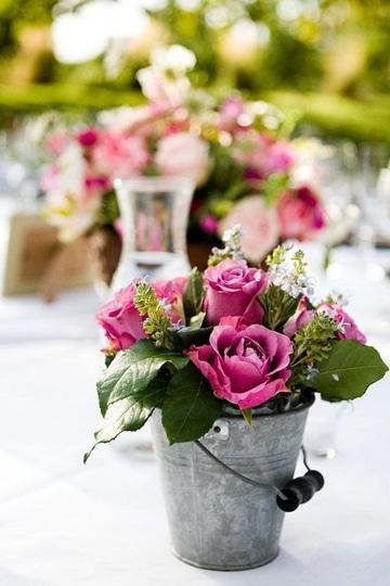 centros de mesa para boda de dia aire libre