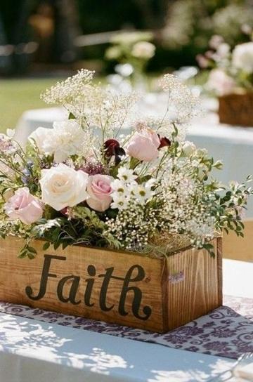 centros de mesa para boda de dia con madera