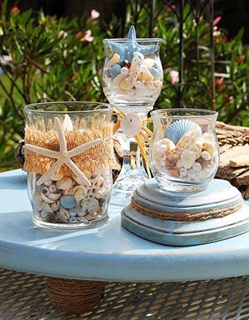 centros de mesa para boda en la playa sencillos