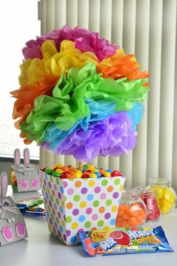 centros de mesa para piñatas infantiles