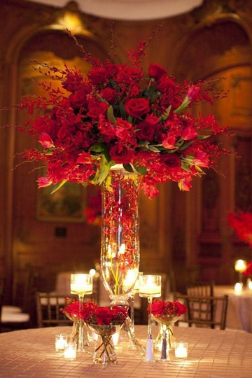 centros de mesa para restaurantes romanticos