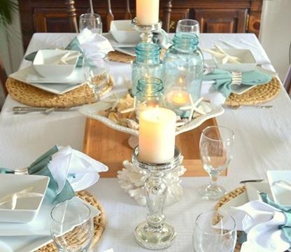 centros de mesa sin flores sencillos