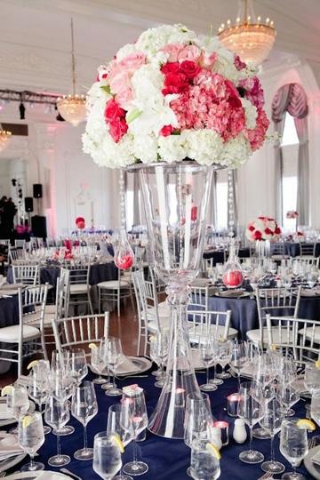 floreros de cristal para xv años grandes