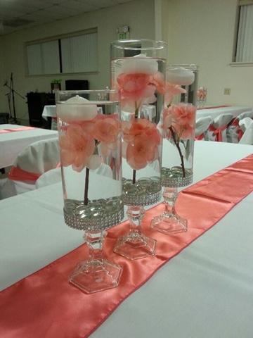 floreros de cristal para xv años ideas faciles