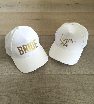 gorras despedida de soltera blancas