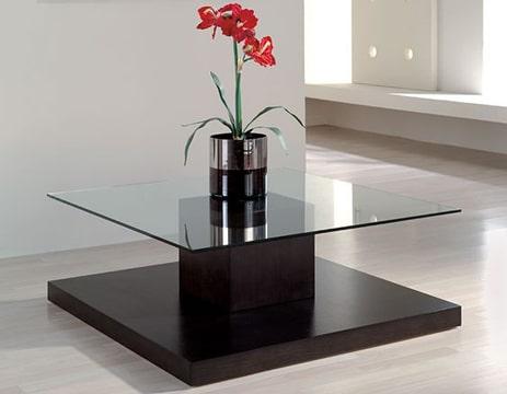 mesas de centro con cristal cuadradas
