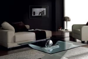 Elegantes mesas de centro con cristal para decoracion