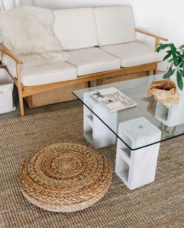 mesas de centro con cristal sencillas