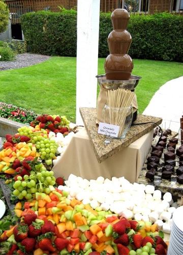 mesas de frutas para eventos corporativos