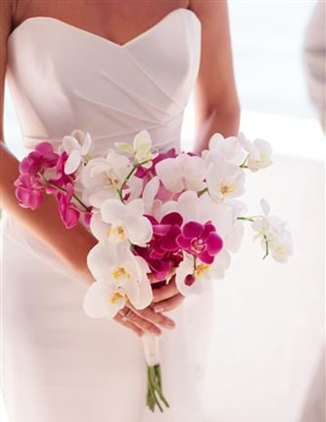 ramos de novia con orquideas pequeños