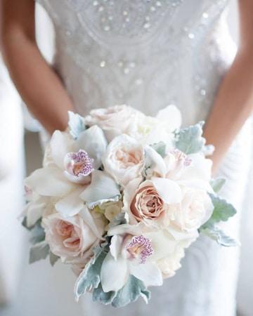 ramos de novia con orquideas y rosas