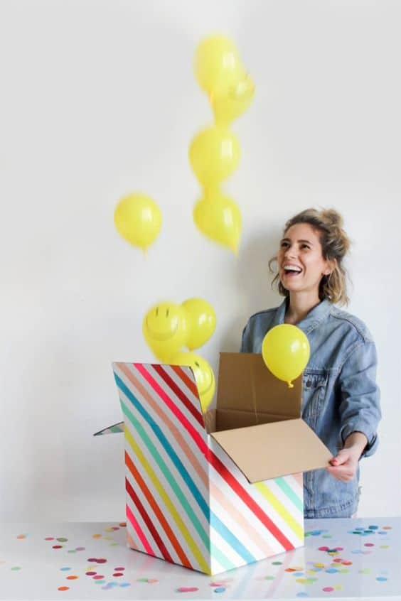 regalos sorpresa de cumpleaños en caja