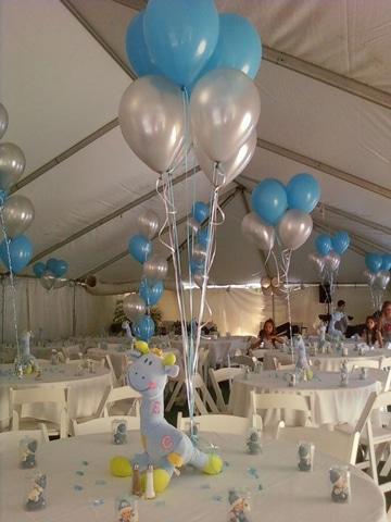 adornos de salon con globos para cumpleaños
