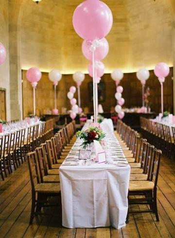 adornos para boda con globos decoracion salon