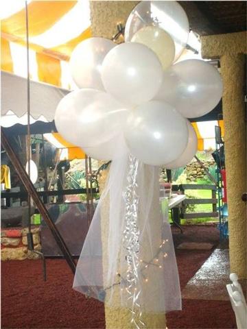 Sencillos y hermosos adornos para boda con globos for Adornos de casamiento