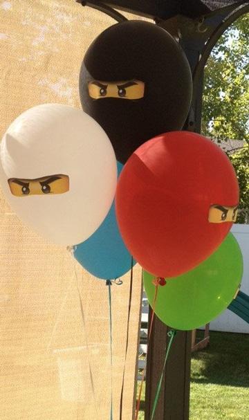 adornos sencillos con globos para cumpleaños