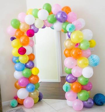 arcos de globos para baby shower de colores