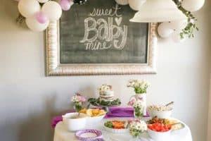 Hermosos y autenticos arcos de globos para baby shower