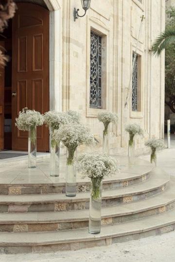 arreglos de flores para iglesia en exterior