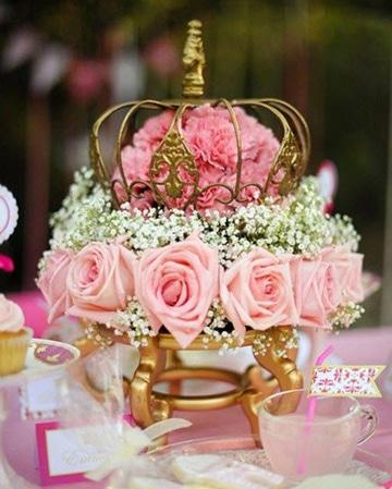 centros de mesa color rosa para cumpleaños