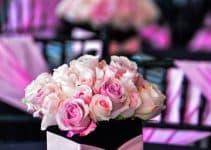 Lindos y radiantes centros de mesa color rosa