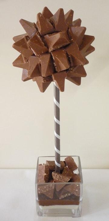 centros de mesa con chocolates faciles
