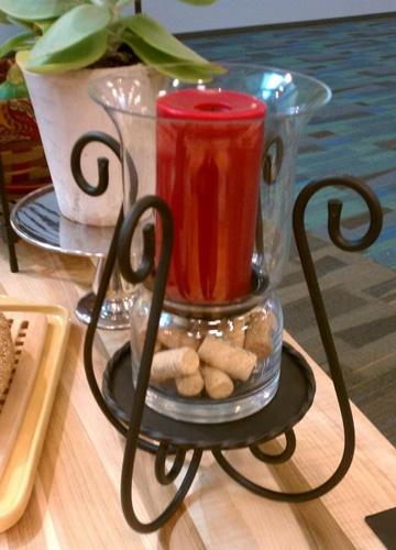 centros de mesa con cristal y velas