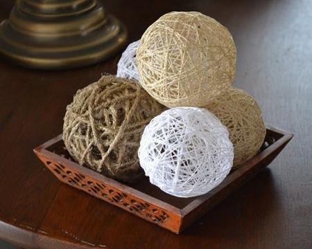 centros de mesa con esferas manualidades