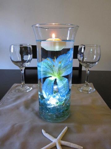 centros de mesa con hidrogel sencillos